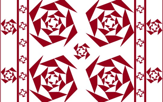 Designs in Red and White