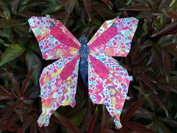 EPP Butterfly in Liberty lawn pinks - Mud, Pies and Pins