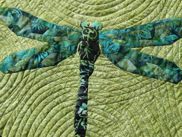 "EPP Dragonfly Quilt ""Flying in Circles"" 