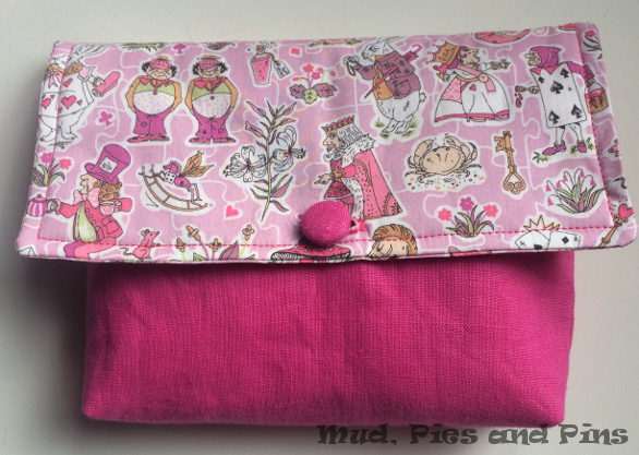 Alice in wonderland Pouch by Mud, Pies and Pins