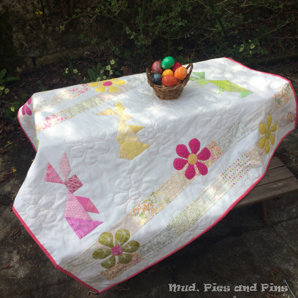 Tangram Bunny Sprintime Quilt | Mud, Pies and Pins