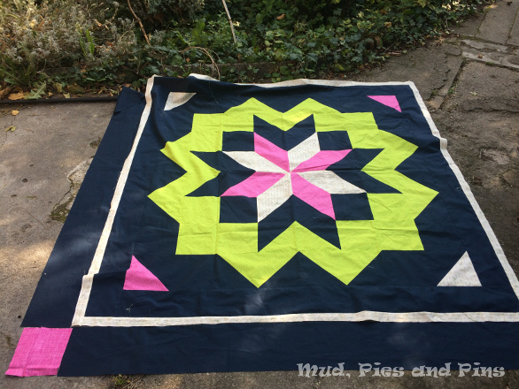 """Acid Star"" star surround quilt 