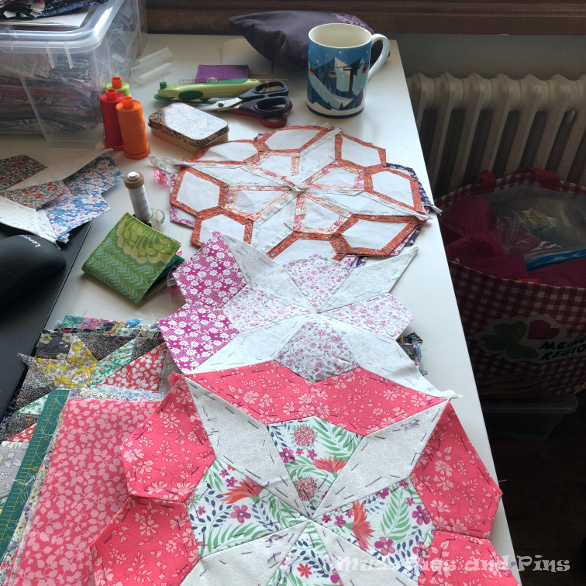 EPP work in progress - The Seoda Quilt | Mud, Pies and Pins