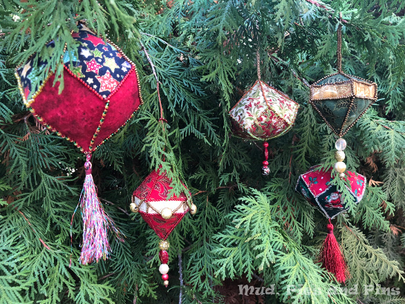 Beaded EPP Ornaments | Mud, Pies and Pins
