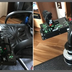 Office Chair Joystick Mount Back Support Pillow For Monstertech Hotas Table Mounts Review Mudspike Mounted In A Natural Position Much Like They Would Be Real Aircraft Having The Stick Positioned Right Place Allows More Precise