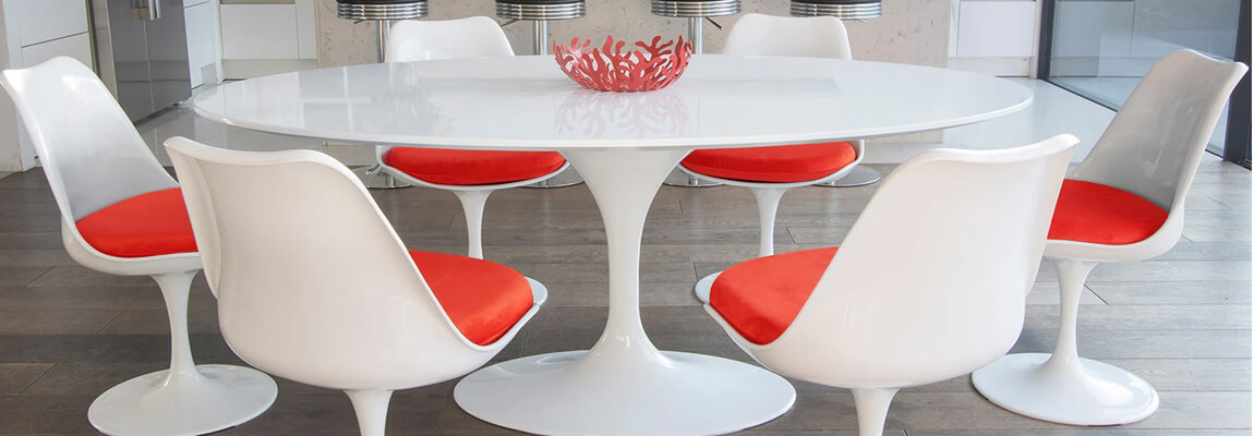 table a manger ovale dining tulip mdf tables design meubles concept