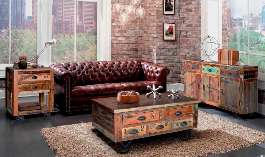 mesa centro industrial vintage