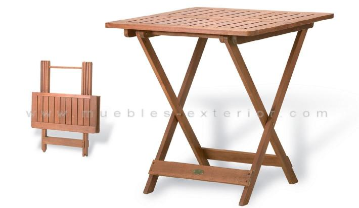 Mesas de teca plegables