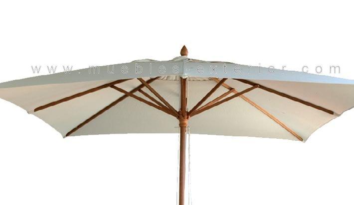 Parasol madera 3x2m