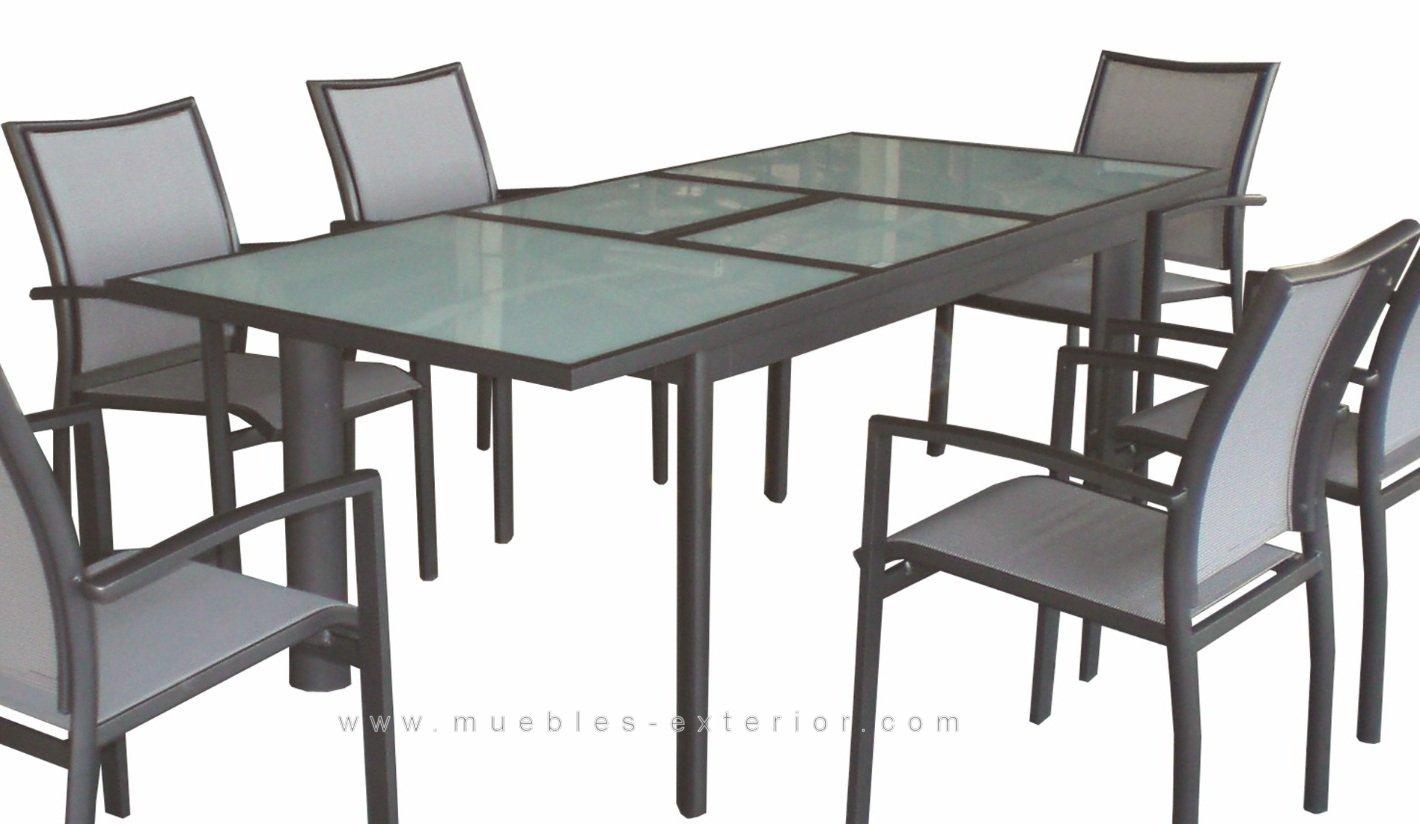 Muebles de Terraza  sillas y mesas de aluminio y textilene
