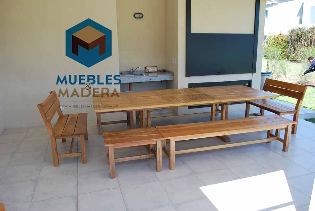 Mesas para Quinchos  Muebles de Madera Para Exterior