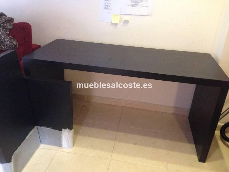 Mesa escritorio tipo Malm Ikea color wengue cod18234