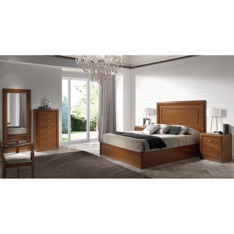 Dormitorio clsico acabado en color Nogal