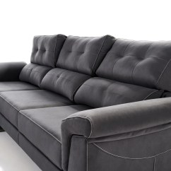 Black Sofa Chaise Longue Brown Leather Accent Chair Sofá Modular By Future Design Confort