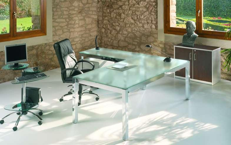 mesas de despacho de cristal