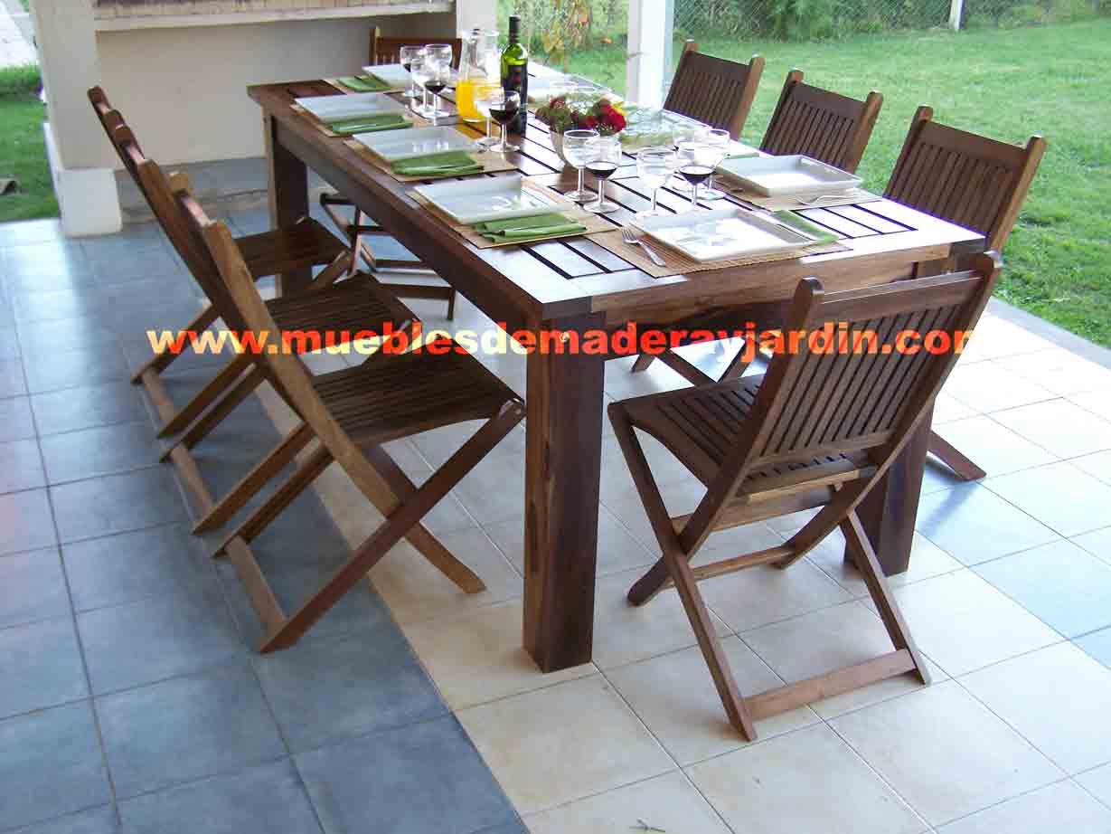 Mesas para Quinchos  El Blog de Muebles de Madera y