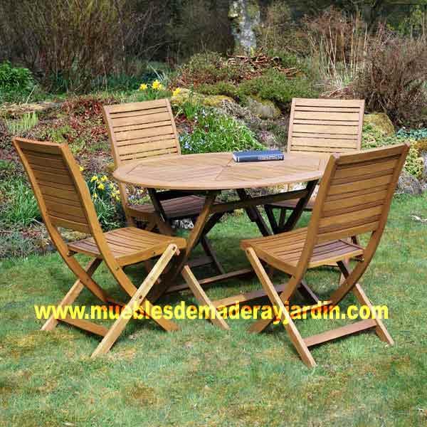 Mesas redondas  El Blog de Muebles de Madera y Jardin COM