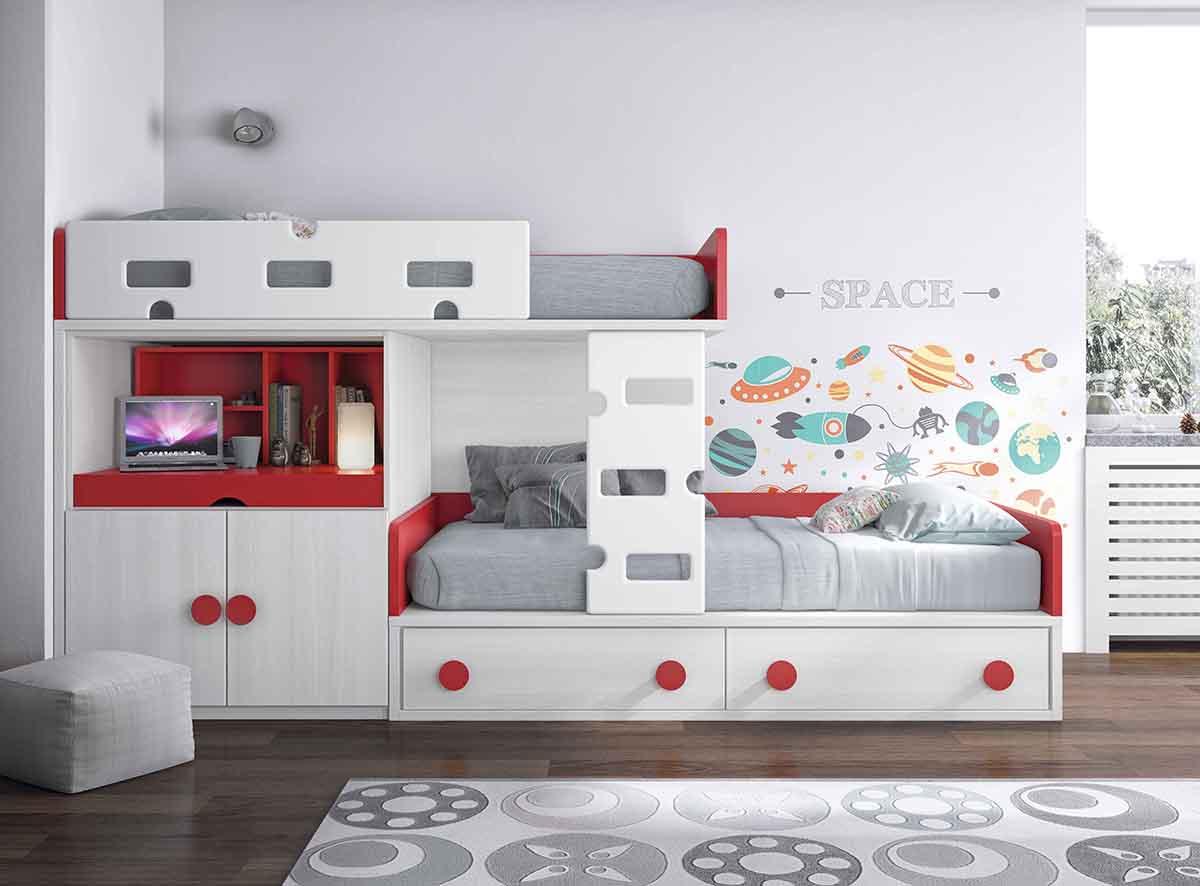 La cama nido en la decoracin de habitaciones juveniles