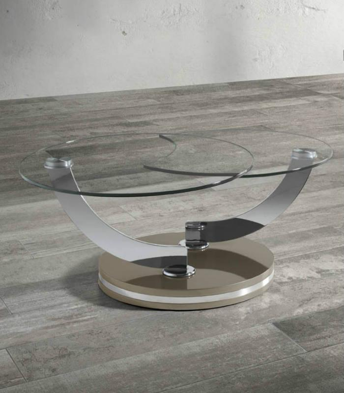 Mesa de centro de cristal de NGEL CERD