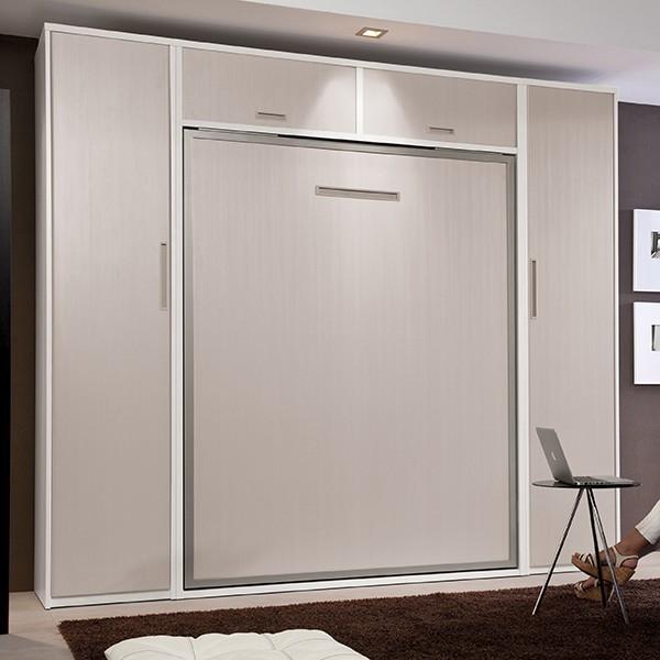 Composicin habitacion cama abatible vertical con armarios