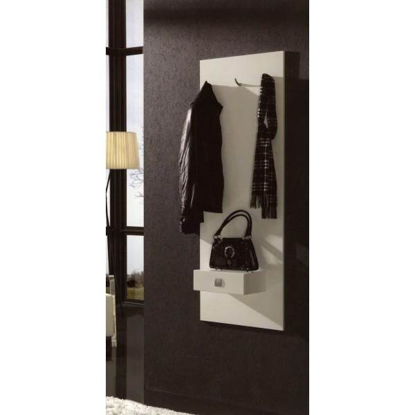 recibidor entradita con perchero y cajon moderno