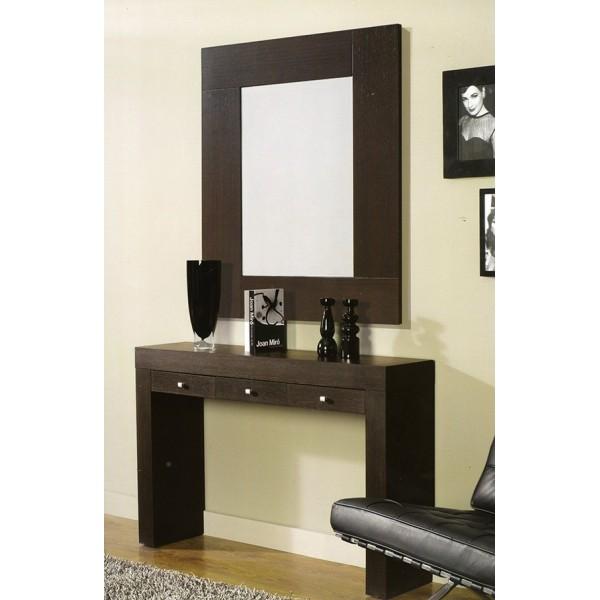 Espejo de pared moderno de madera