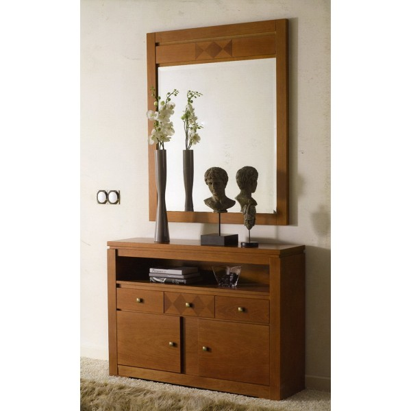 Recibidor entrada taquillon con espejo clasico moderno