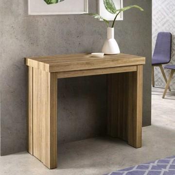 mesa consola extensible de salon en melamina