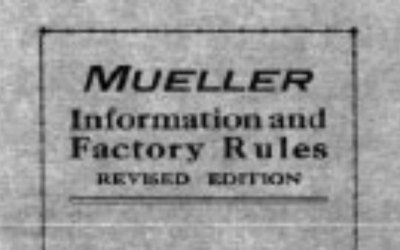 Working at Mueller Co. in 1925