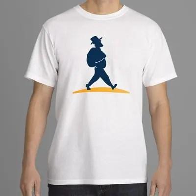 Shirt Herren mit Müllers Lust Wanderreisen Logo mittig