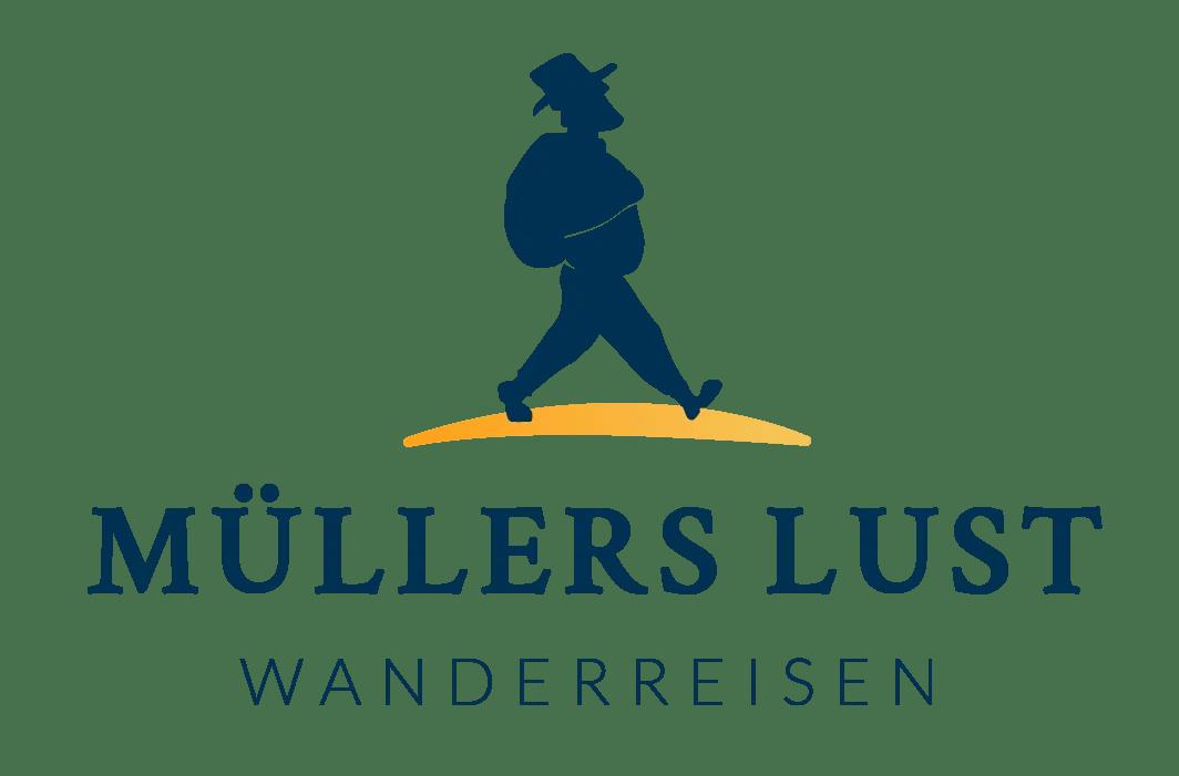 Muellers Lust Wanderreisen Logo Bild und Text