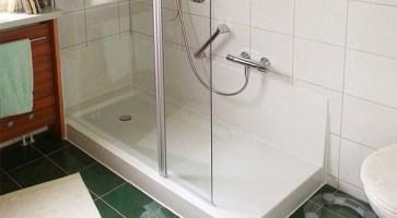 Wanne zur Dusche   die barrierefreie Dusche in 8 Std ...