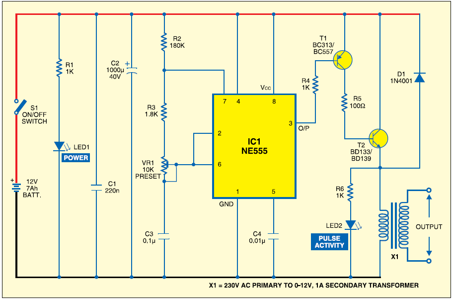 electric fence circuit diagram diy white fat cell window charger engineering projects