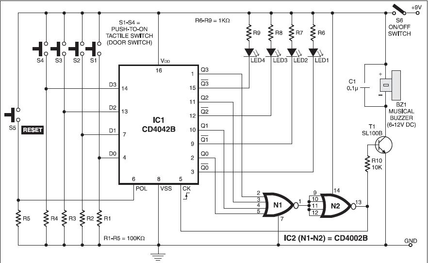 Musical Doorbell Circuit & Easy-create-music-by-UM66T