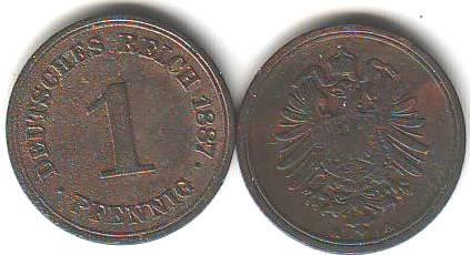 Umlaufmnzen Deutsches Reich 1 Pf kaufen  SeBa Berlin
