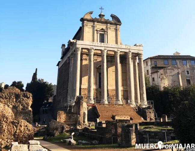 Edificios del senado de Roma en el foro romano