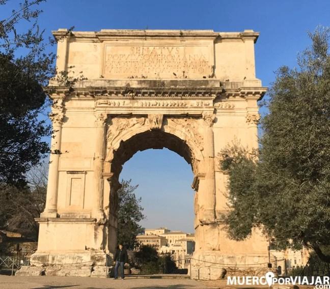 El fabuloso Arco de Constantino en Roma