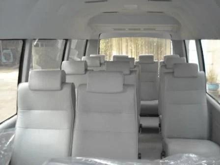 Interior de una van para el traslado