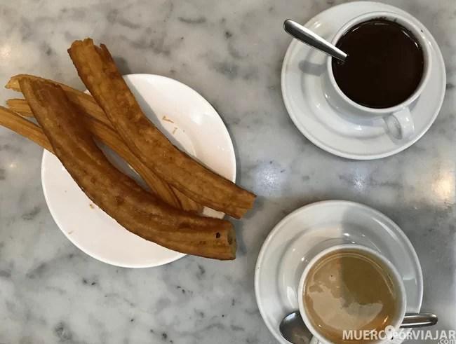 Churros, Chocolate y Café con leche, ¿que más se puede pedir?