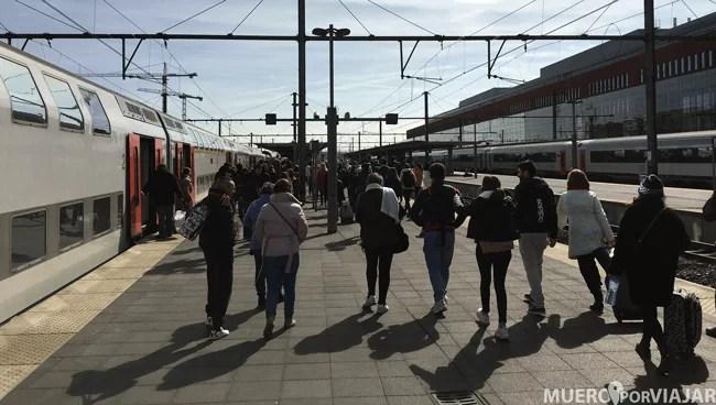 El tren es una de las mejores opciones para desplazarte de Bruselas a Brujas