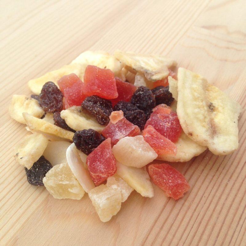 muesli con fruta escarchada