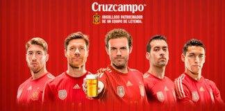 cruzcampo invita a una cana con el primer gol de espana