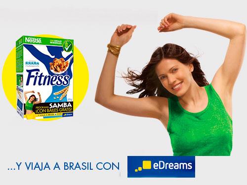 Sorteo de un viaje a Brasil con Fitness de Nestle