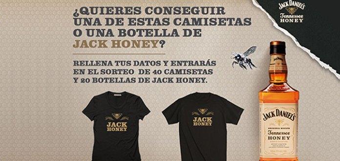 sorteo de camisetas y botellas de jack honey