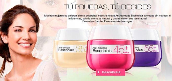 prueba gratis anti-arrugas essencials de Garnier