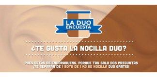 Consigue 1 bote de 1 kg de Nocilla Duo gratis