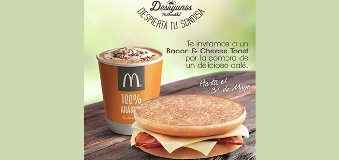 desayuna gratis Bacon & Cheese Toast con McDonald's