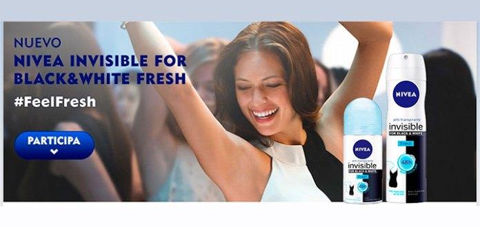 Prueba gratis Nivea invisible for black & white fresh
