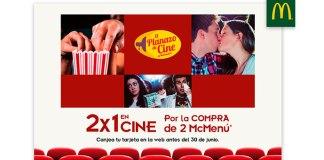 2x1 en cine con McDonald's