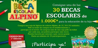 Alpino sortea 30 becas escolares